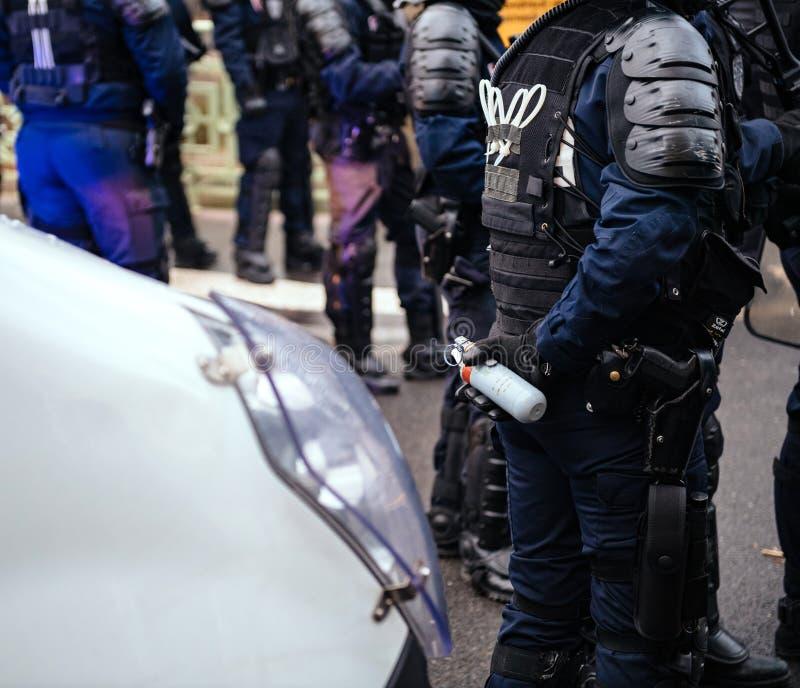 Policiers fixant la zone devant des guêpes Gil photos stock