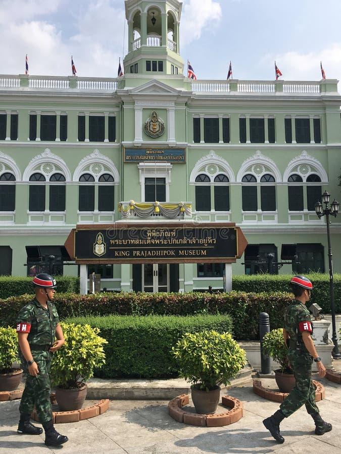 Policiers militaires de Thail au travail photo stock