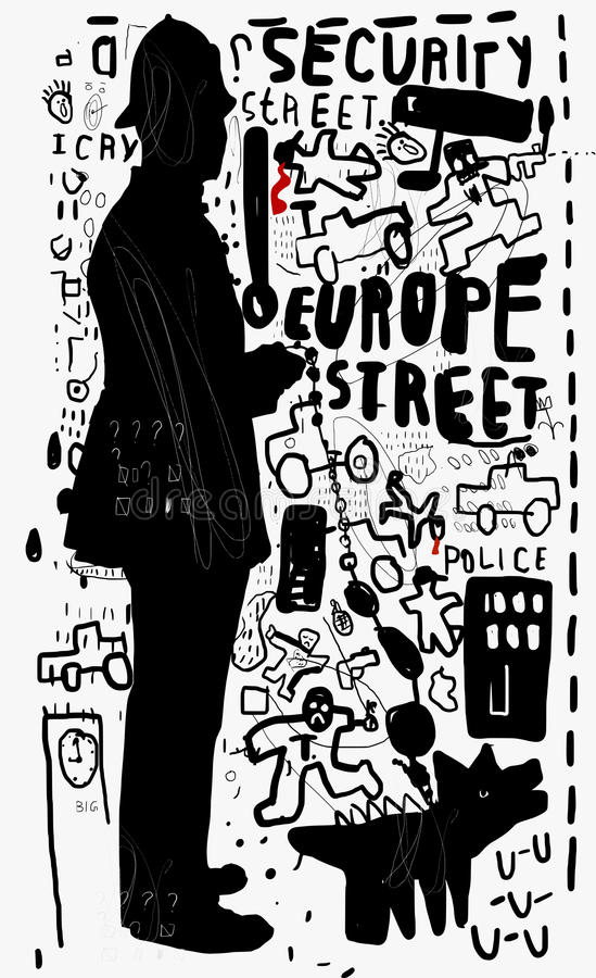 policja ilustracji
