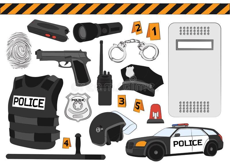 policja 3d pojęcie odizolowywający odpłaca się zbawczego biel ilustracja wektor