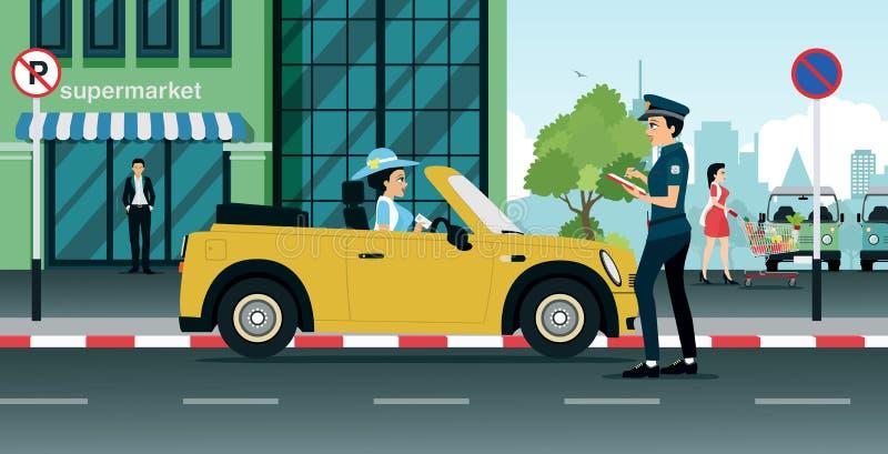 Policja drogowa royalty ilustracja