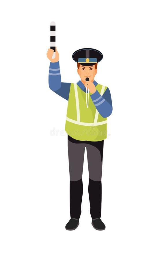 Policja drogowa wektor ilustracja wektor