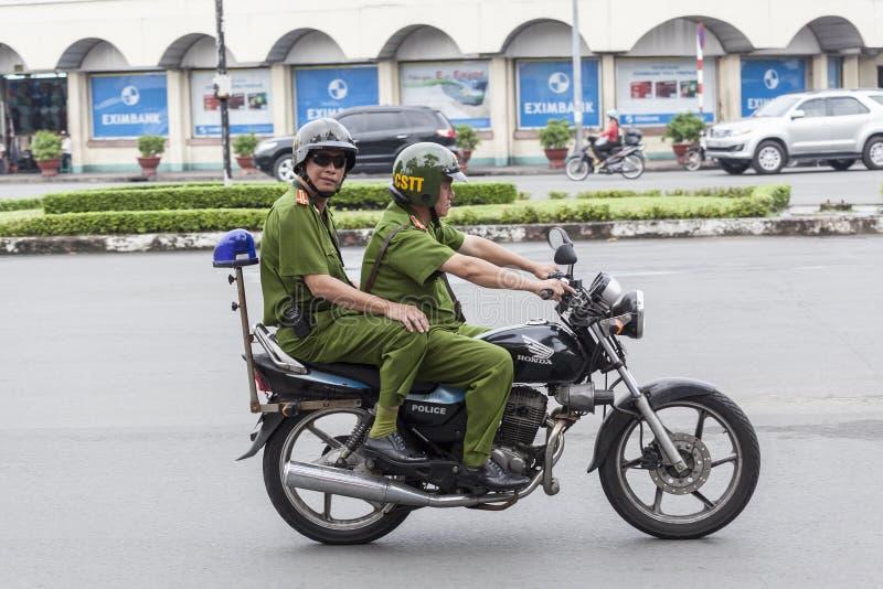 Policja na ulicie Ho Chi Minh fotografia royalty free
