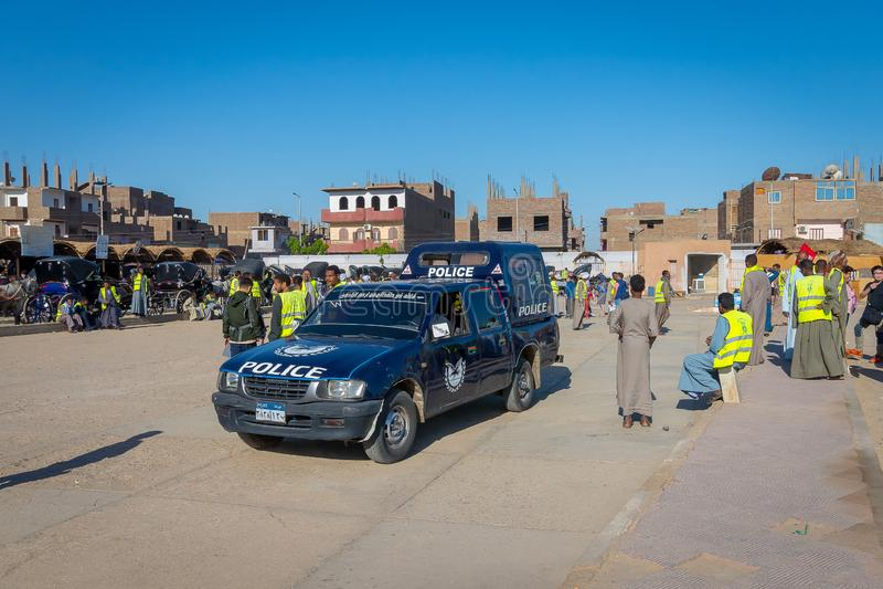 Policja w świątyni Edfu Egipt Kwiecie? 2019 zdjęcia stock