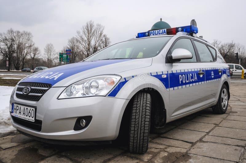Policja w Warszawa zdjęcia stock