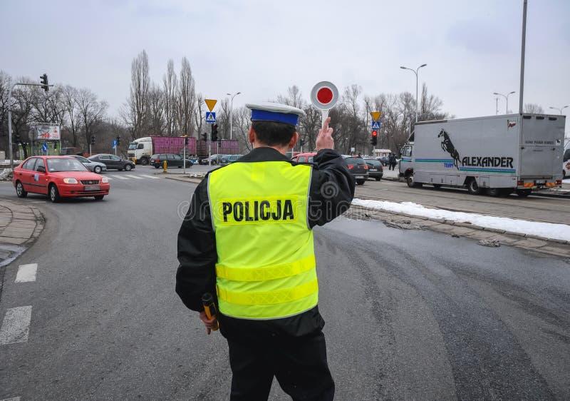 Policja w Warszawa zdjęcie royalty free