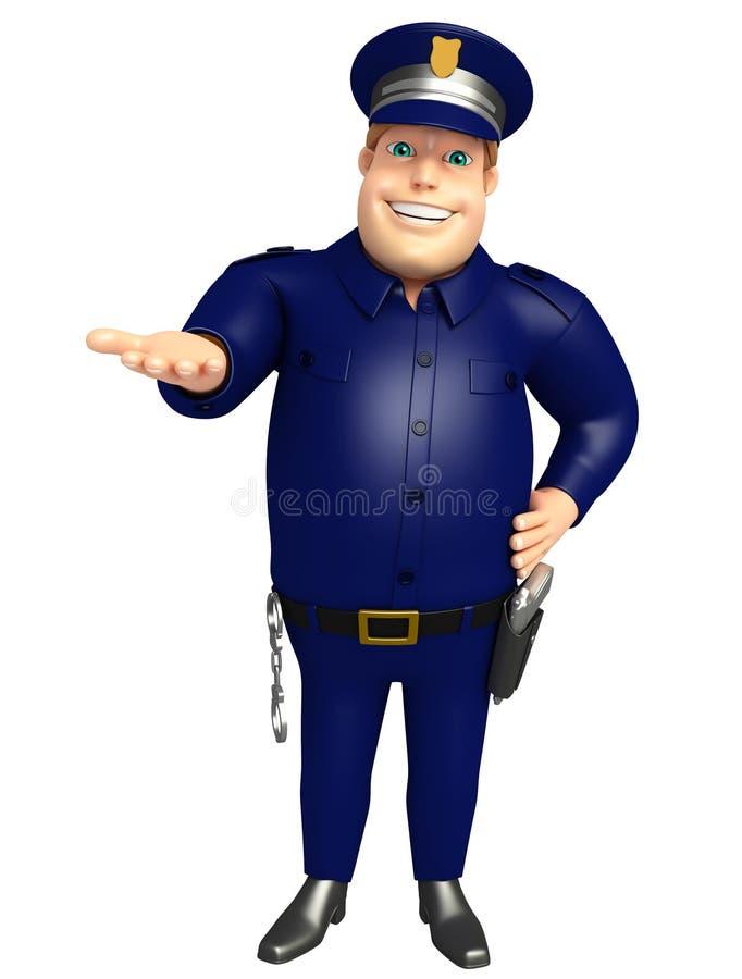 Policja z chwytem pozuje royalty ilustracja
