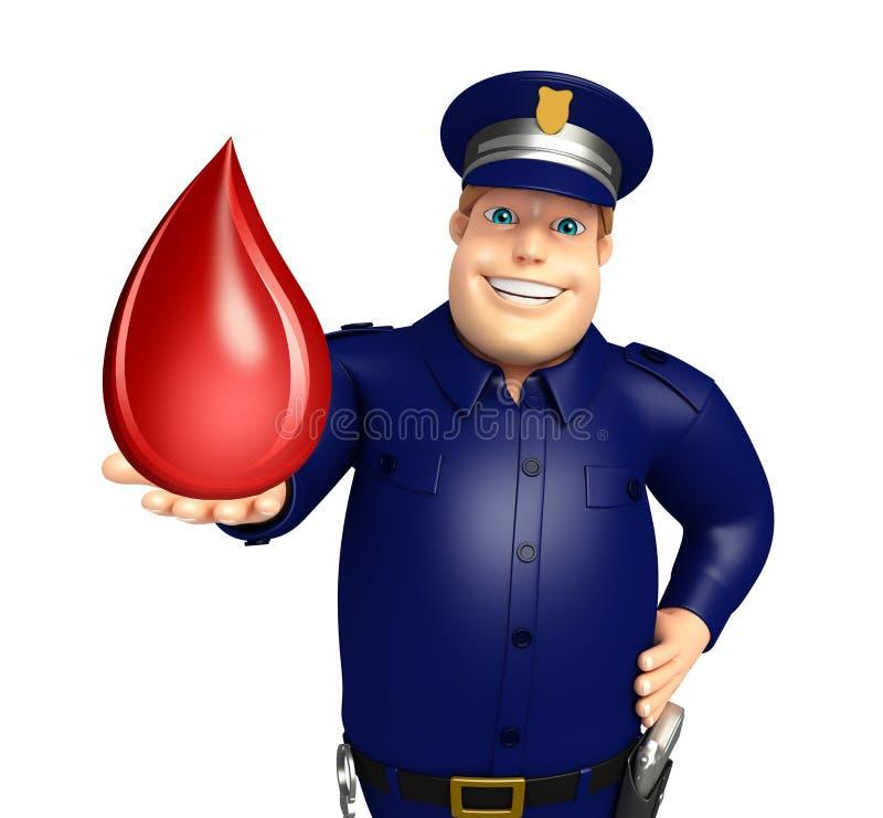 Policja z krwią opuszcza ilustracji