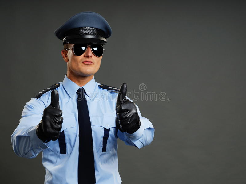 Policjantów przedstawienia na tobie zdjęcie royalty free