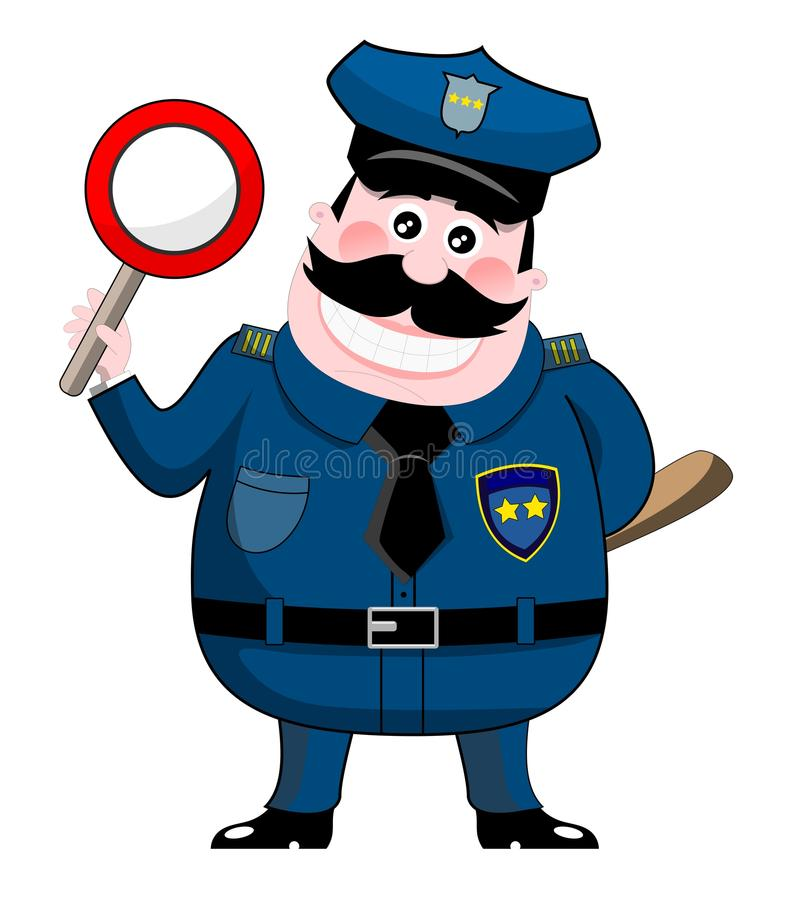 Policjant ilustracji