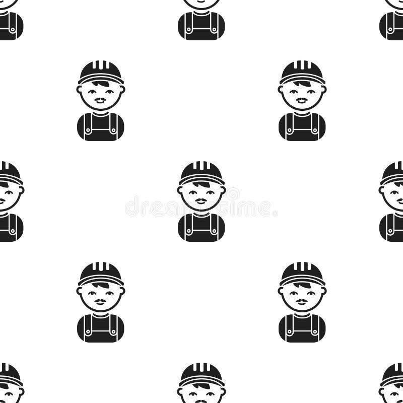 Policjant czarna ikona Ilustracja dla sieci i mobilnego projekta ilustracja wektor