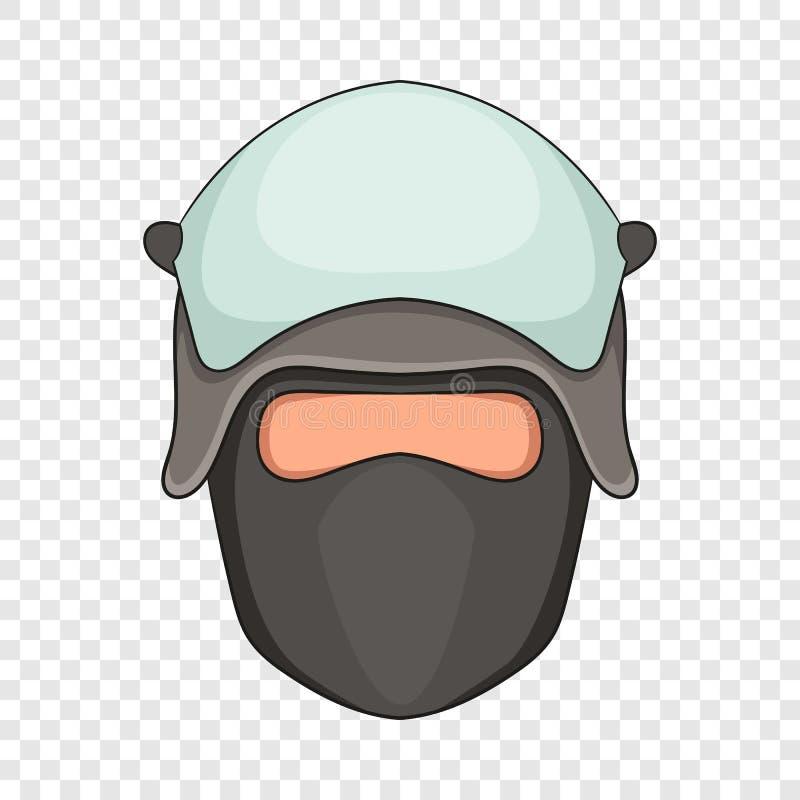 Policjant g?owa w twarzy maski ikonie, kresk?wka styl ilustracja wektor