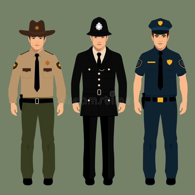 Policjant i szeryf ilustracja wektor