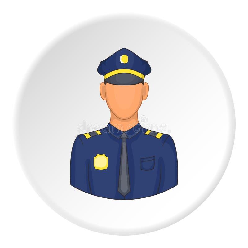 Policjant ikona, mieszkanie styl ilustracja wektor