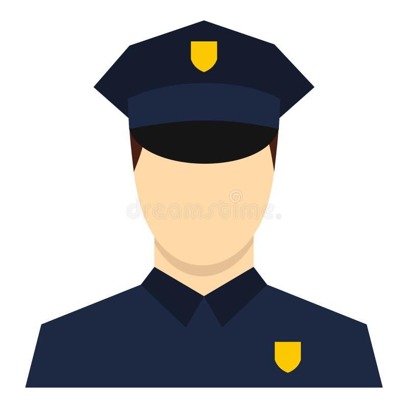 Policjant ikona, mieszkanie styl royalty ilustracja