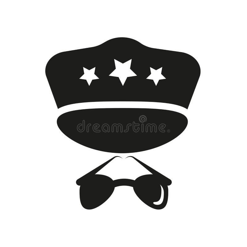 Policjant ikona Modny policjanta logo pojęcie na białym backgroun ilustracji