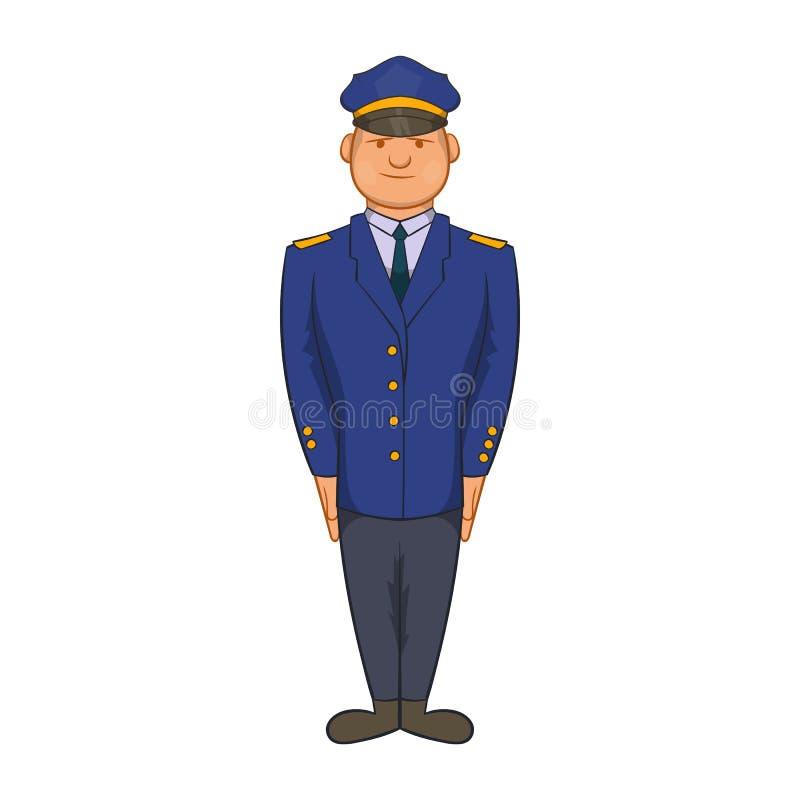 Policjant ikona w kreskówka stylu ilustracji