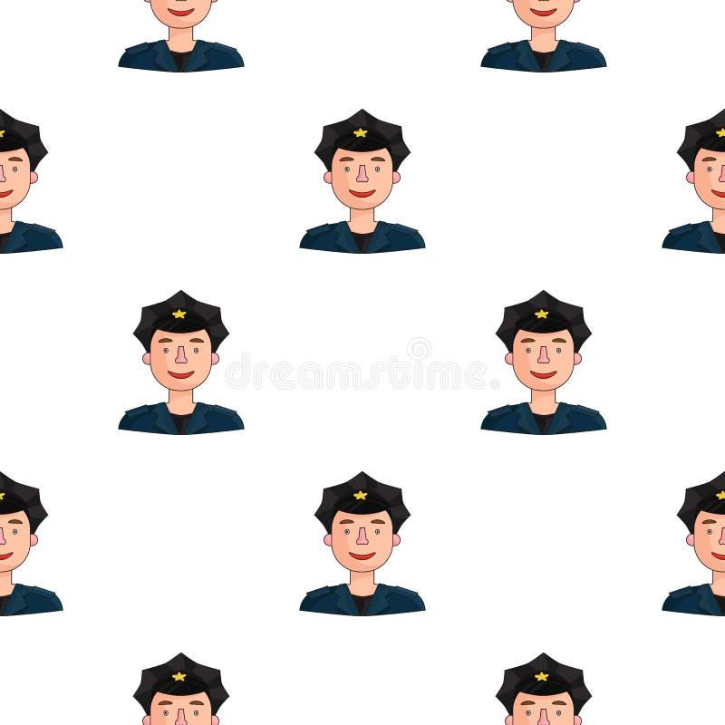 Policjant ikona w kreskówka stylu odizolowywającym na białym tle Ludzie różny zawodu wzoru zapasu wektor royalty ilustracja