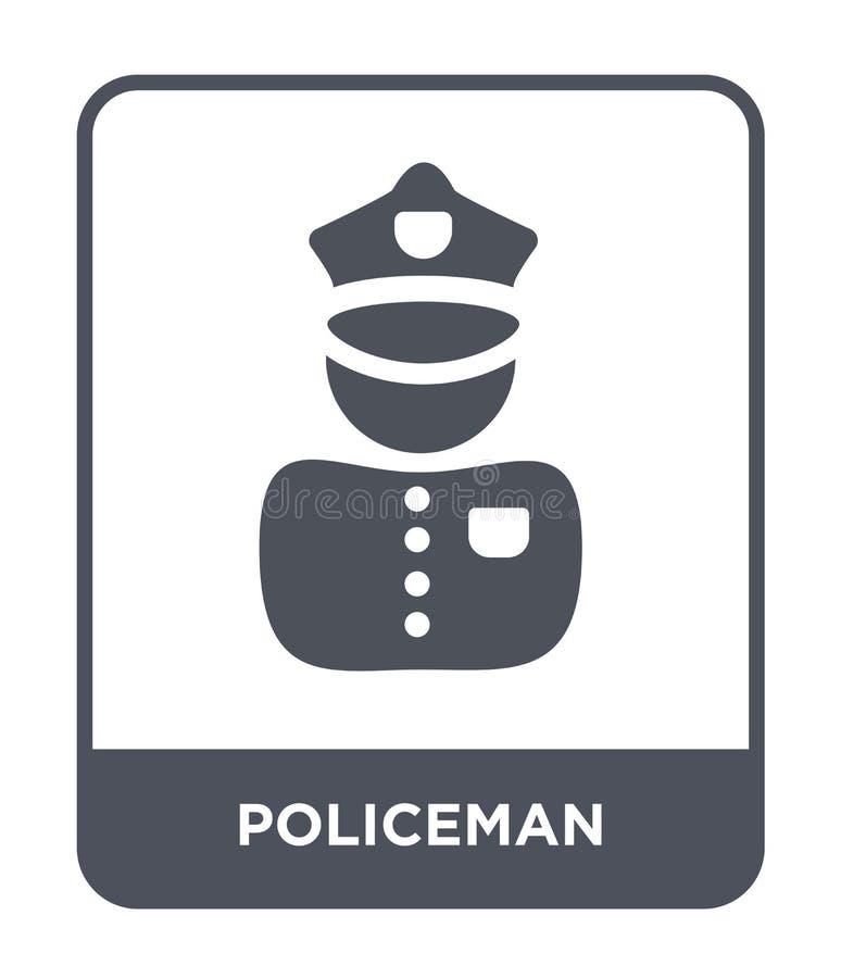 policjant ikona w modnym projekta stylu Policjant ikona odizolowywająca na białym tle policjant wektorowej ikony prosty i nowożyt royalty ilustracja