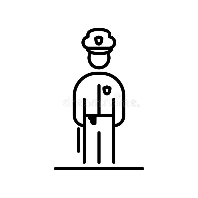 Policjant ikony avatar mieszkania stylu prosta ilustracja ilustracja wektor