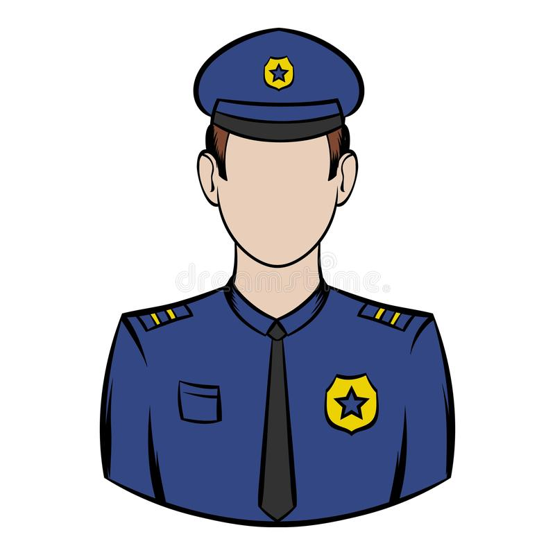 Policjant ikony kreskówka royalty ilustracja