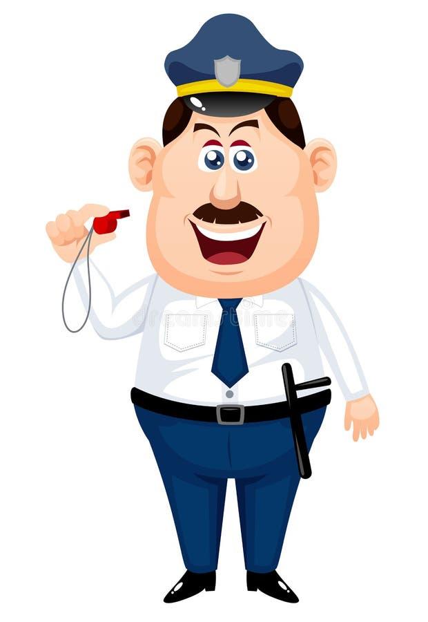 Policjant kreskówka ilustracja wektor