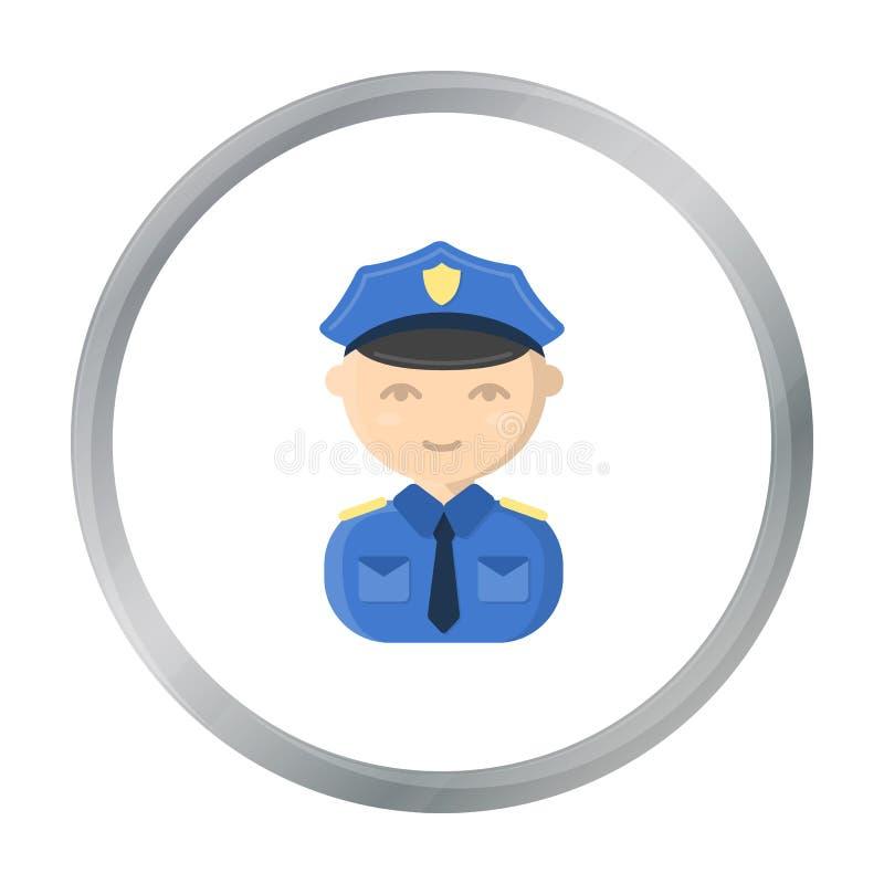 Policjant kreskówki ikona Ilustracja dla sieci i mobilnego projekta ilustracja wektor