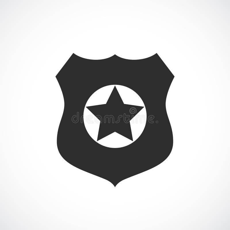Policjant odznaki wektoru ikona ilustracja wektor