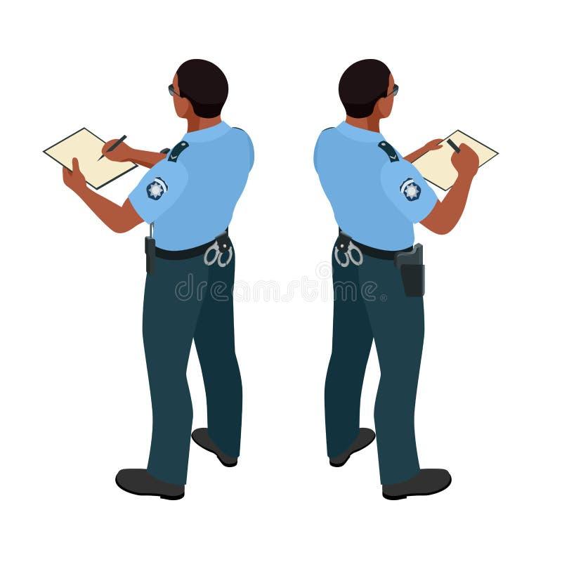 Policjant w mundurze Policjant ikona Policjanta wektor ilustracja wektor