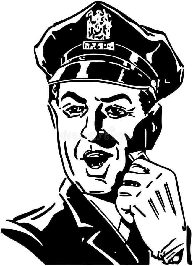 Policjant Z gwizd ilustracji