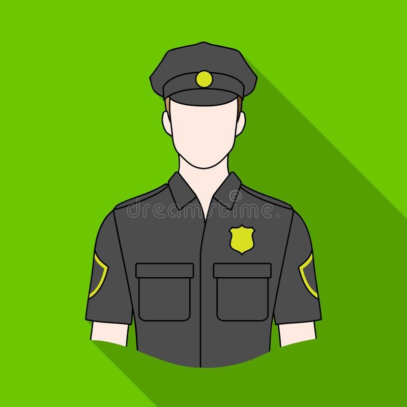 policjant Zawody przerzedżą ikonę w mieszkanie stylu symbolu zapasu ilustraci wektorowej sieci royalty ilustracja