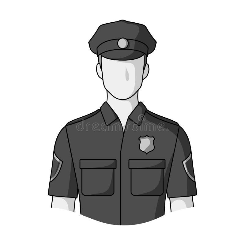 policjant Zawody przerzedżą ikonę w monochromu stylu symbolu zapasu ilustraci wektorowej sieci royalty ilustracja