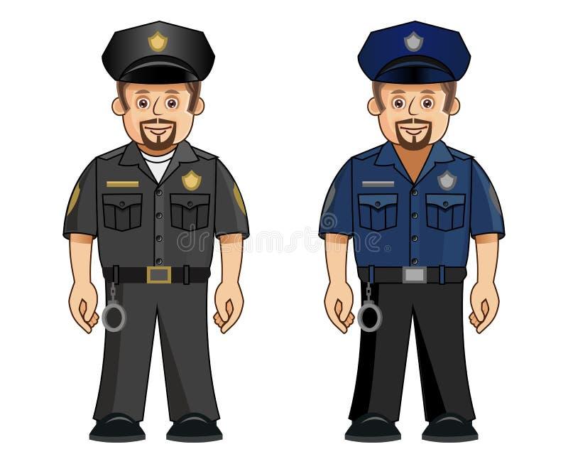 policjanta 2 munduru ilustracja wektor