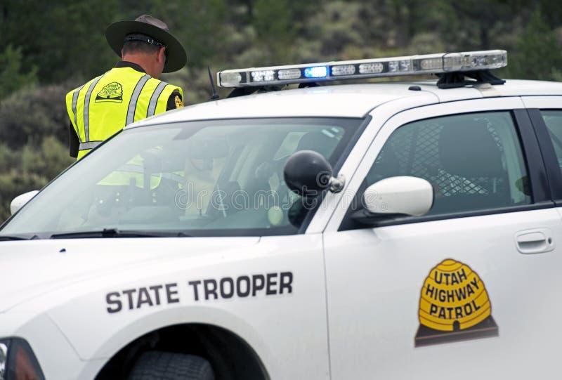 Policjanta Stanowego samochód policyjny obrazy royalty free