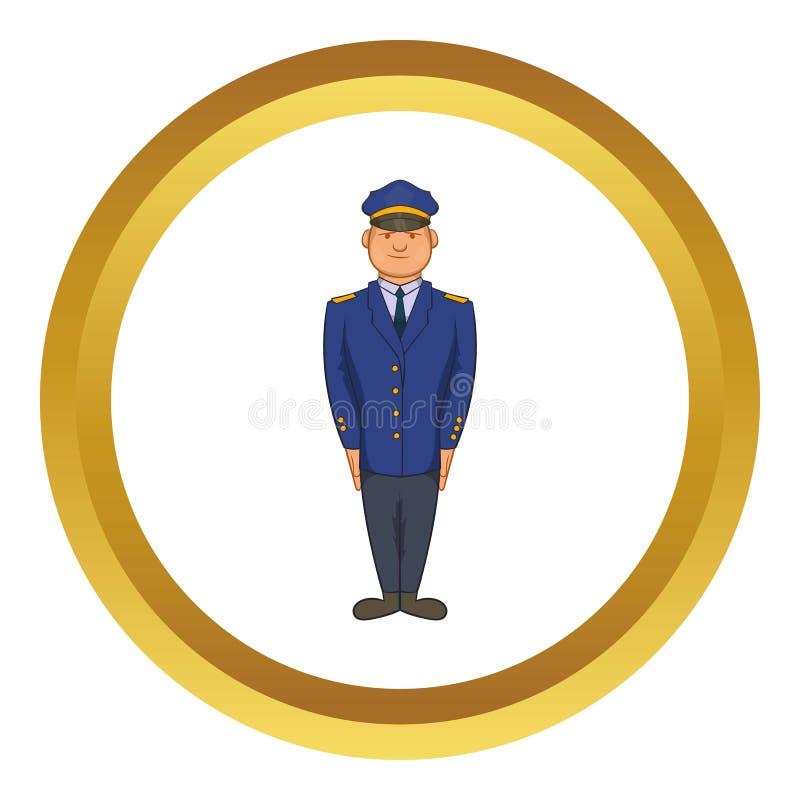 Policjanta wektoru ikona ilustracja wektor