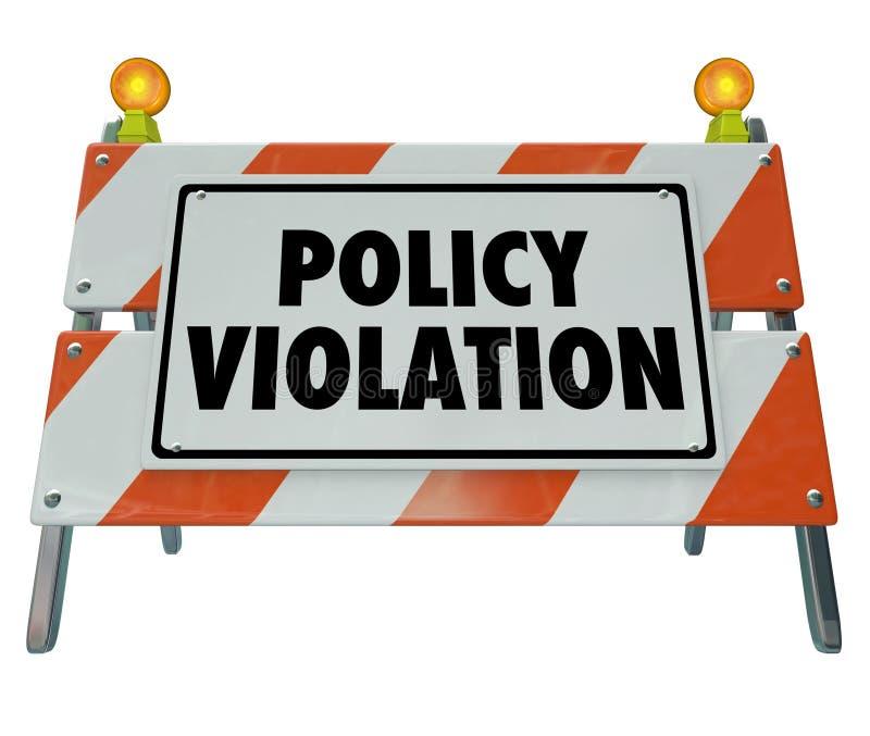 violation warning
