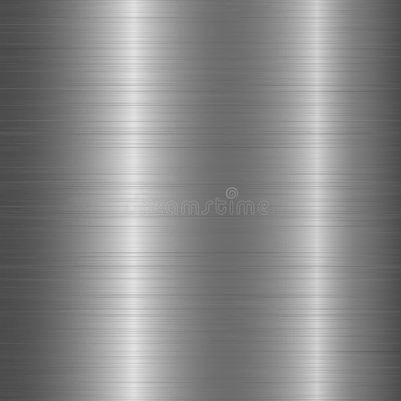 Poliermetallchrom gebürsteter Beschaffenheitshintergrund Raue Aluminiumbeschaffenheit für Konzept des Entwurfes Vektor lizenzfreie abbildung