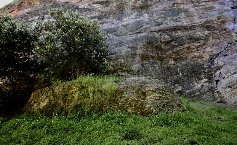 Polierte nat?rlich slickenside Felsen bei Corona Heights Park, San Francisco, 6 stockfotos