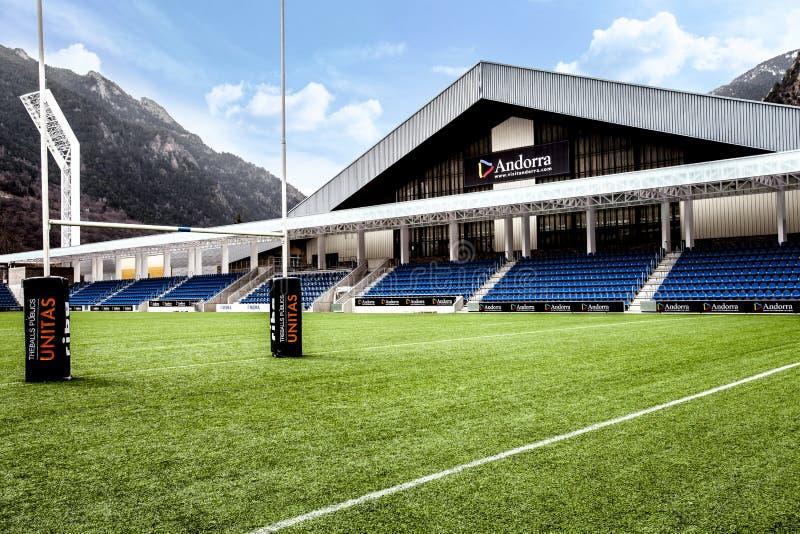 Poliesportiu Andorra, arena di sport situata nella La Vella, Andorra dell'Andorra fotografie stock libere da diritti