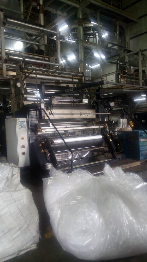 Polietileno que faz a máquina imagem de stock