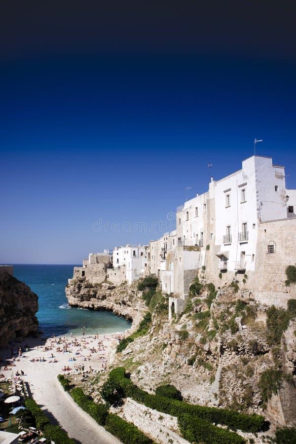 Polignano en Mare Bari Italy arkivfoton