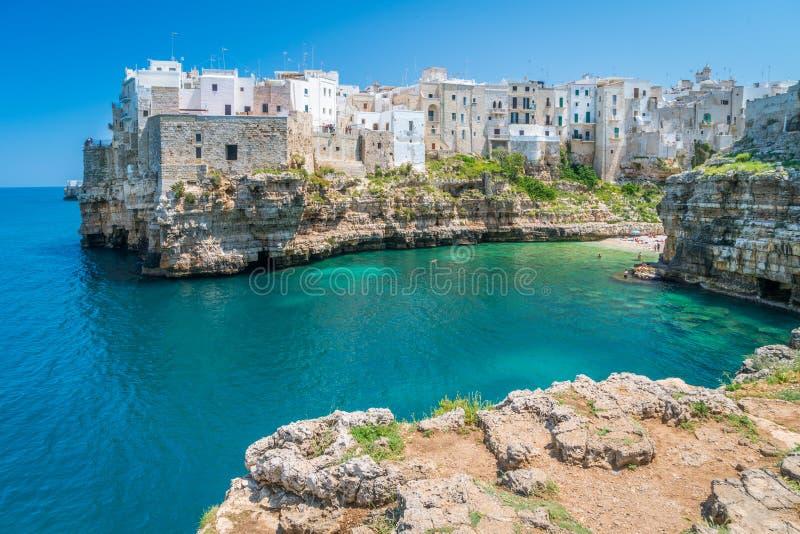 Polignano a Mare, Bari Province, Apulia, southern Italy. stock images