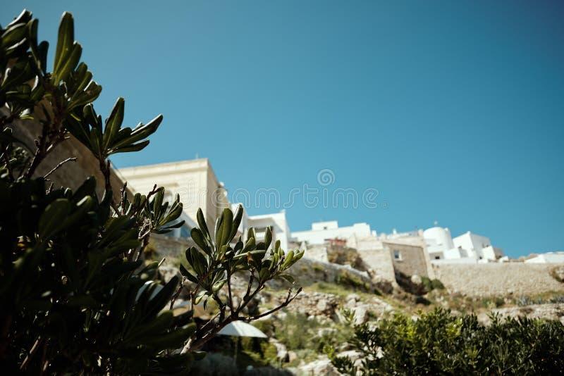 Polignano a Mare, stad Italië, zee royalty-vrije stock afbeelding