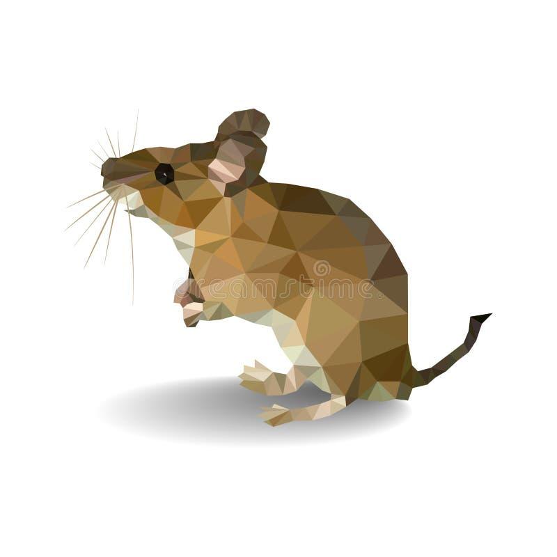Poligon домовой мыши - иллюстрация изолированная на белой предпосылке иллюстрация штока