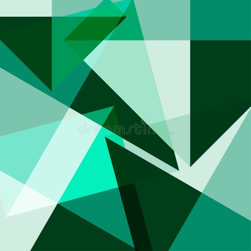 Poligonal geométrico multicolor del fondo del extracto stock de ilustración