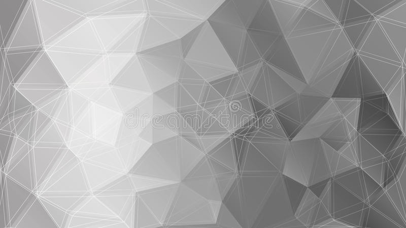 Poligonal monochrome background. Vector illustration royalty free illustration