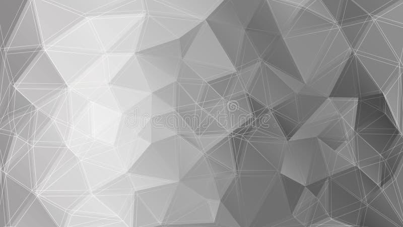Poligonal-Monochromhintergrund Auch im corel abgehobenen Betrag lizenzfreie abbildung