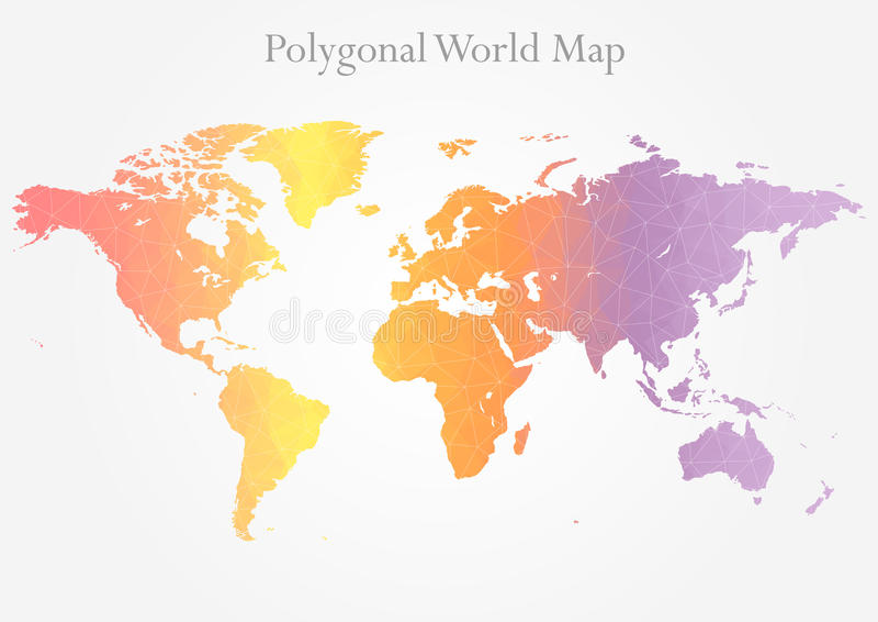 Poligonalna światowa mapa royalty ilustracja