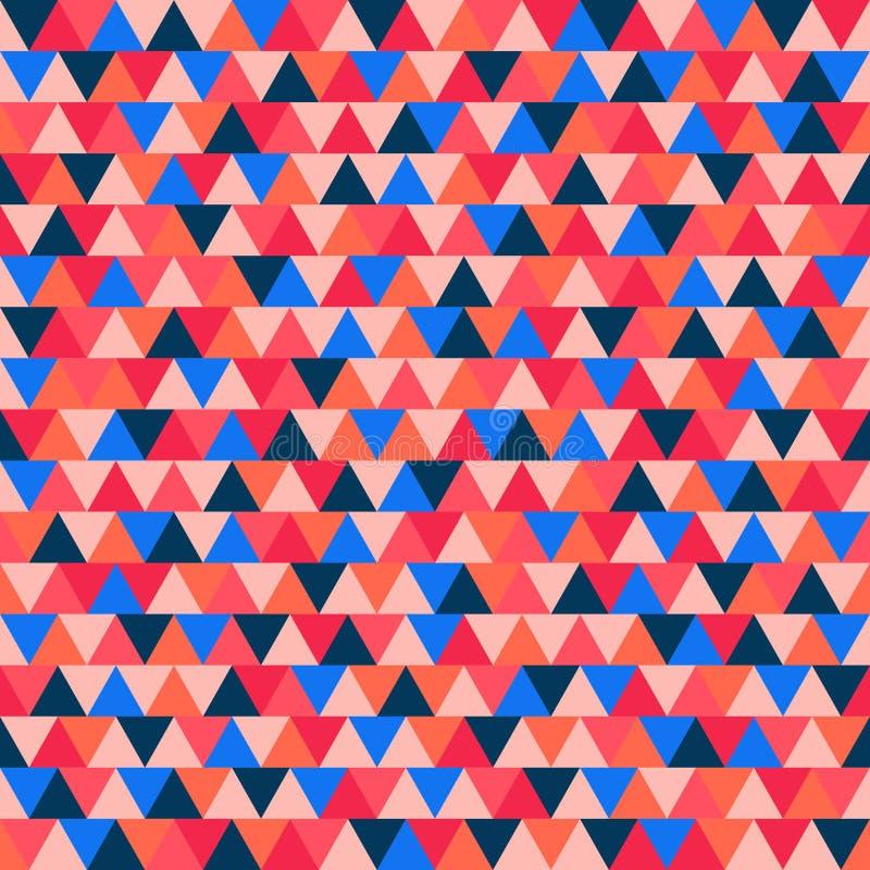 Poligonalna Bożenarodzeniowa ilustracja dla dekoraci Abstrakcjonistyczny wektoru wzór Bezszwowy trójboka tło dla tkaniny, ornamen ilustracja wektor
