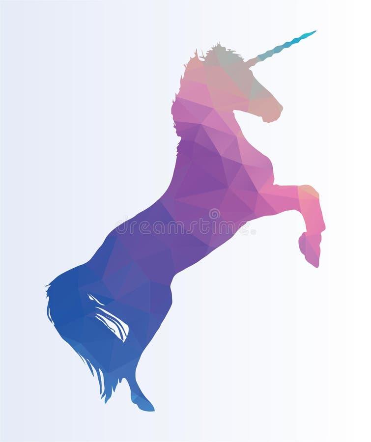 Poligonalna Kolorowa jednorożec ilustracji